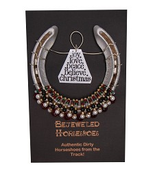 Holiday Bejeweled Horseshoe