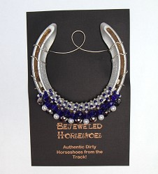 Lexington Blue Bejeweled Horseshoe