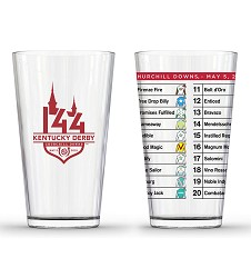 Kentucky Derby 144 Post Position Pint Glass