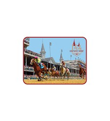 Kentucky Derby 144 Retro Puffy Magnet,R38373A2 144 LOGO
