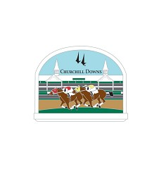 Churchill Downs Horse Slider Magnet