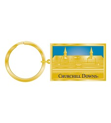 Churchill Downs Gold Vision Keychain,R3837316 GOLD