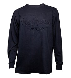Embossed Kentucky Derby Long-Sleeved Crew Tee