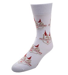 Kentucky Derby 144 All Over Logo Socks