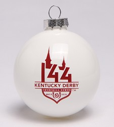 Kentucky Derby 144 Ball Ornament,#522817 LG ORNAMENT
