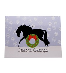 Horse Heart Wreath Christmas Card Set