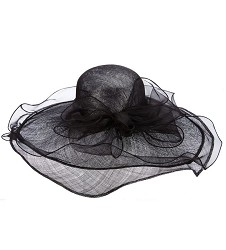 The Organza Trim Lurex Sinamay Hat
