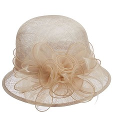 The Organza Rosette Cloche