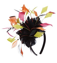 The Harlequin Feather Jewel Tone Fascinator