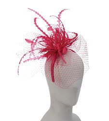 The Geometric Feather Netting Fascinator