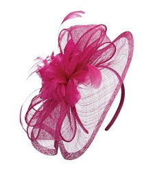 The Sinamay Ripple and Flower Fascinator