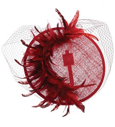 The Mini Boater Feather Fascinator