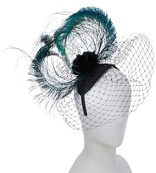 The Peacock Feather Fascinator