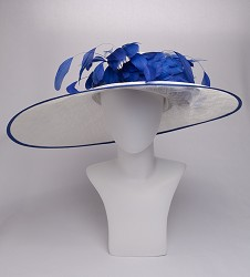 The Structured Big Brim with Flower and Feather Spray