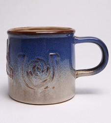 Kentucky Derby Embossed Pottery Mug