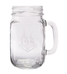 Kentucky Derby 144 Etched Mason Jar Glass
