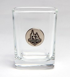 Kentucky Derby 144 Pewter Emblem Shot Glass