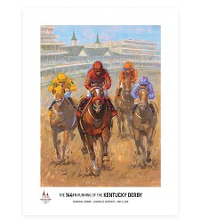 2018 Art of the Derby Poster,Kentucky Derby 144-2018 Art of the Derby,2018 AOTD 18X24