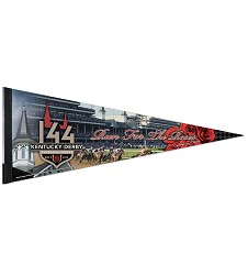 Kentucky Derby 144 Sublimated Pennant