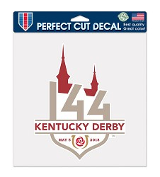 Perfect Cut Kentucky Derby 144 Decal,23134317 8 X 8
