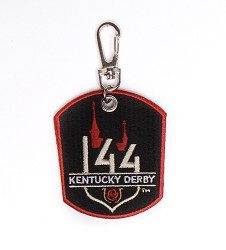 Kentucky Derby 144 Embroidered Keyclip
