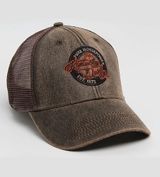 Kentucky Derby 144 Waxed Cotton Mesh Back Cap,C14WCM 144AH69 BROWN