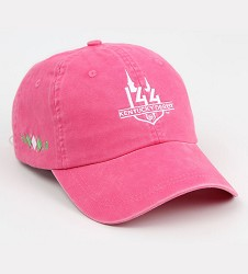Kentucky Derby 144 Ladies Peached Twill Argyle Cap