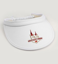 Kentucky Derby 144 Ladies Bungie Visor,V68TN2 144AH92 WHITE