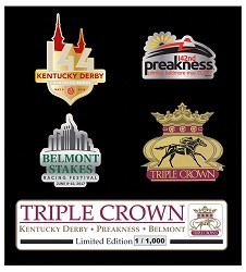 2018 Triple Crown Pin Set,ZT8PS PIN SET 2018