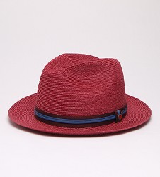 """Colorful Story"" Straw Fedora"