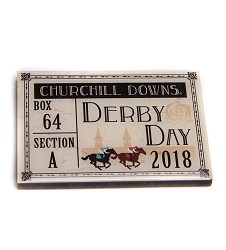 Kentucky Derby Retro Ticket Magnet