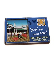 Kentucky Derby Sandy Postcard Magnet