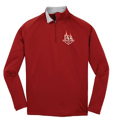 Kentucky Derby 144 Embroidered Tonal Event Logo Quarter Zip