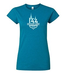 Ladies Kentucky Derby 144 Tonal Event Logo Tee