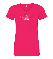 Ladies Kentucky Derby 144 Glitter Design Tee