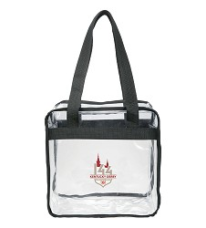 Kentucky Derby 144 Clear Zippered Saftey Tote,8KTBGS 27857-3