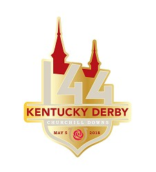 Kentucky Derby 144 Event Logo Lapel Pin