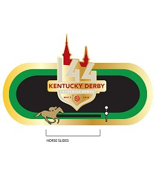 Kentucky Derby 144 Slider Lapel Pin,8KPST 27870-2