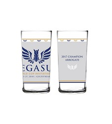 2018 Pegasus World Cup Invitational Logo Glass