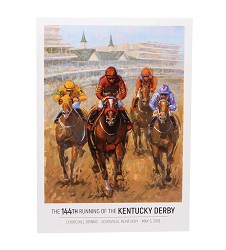 2018 Art of the Derby Postcard,Kentucky Derby 144-2018 Art of the Derby,AOTD POSTCARD 5X7""
