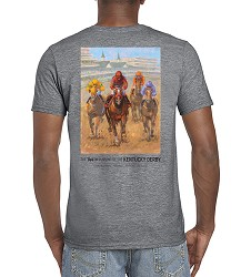 2018 Art of the Derby Unisex Tee,Kentucky Derby 144-2018 Art of the Derby,AOTD TEE GRAPHITE