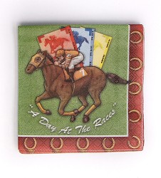 """A Day at the Races"" Party Napkins"