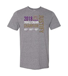 Justify Triple Crown Confetti Tee