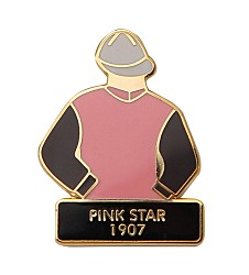 1907 Pink Star Tac Pin