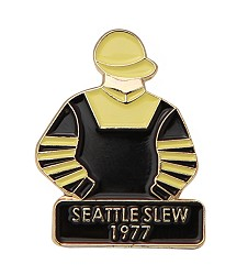 1977 Seattle Slew Tac Pin,1977