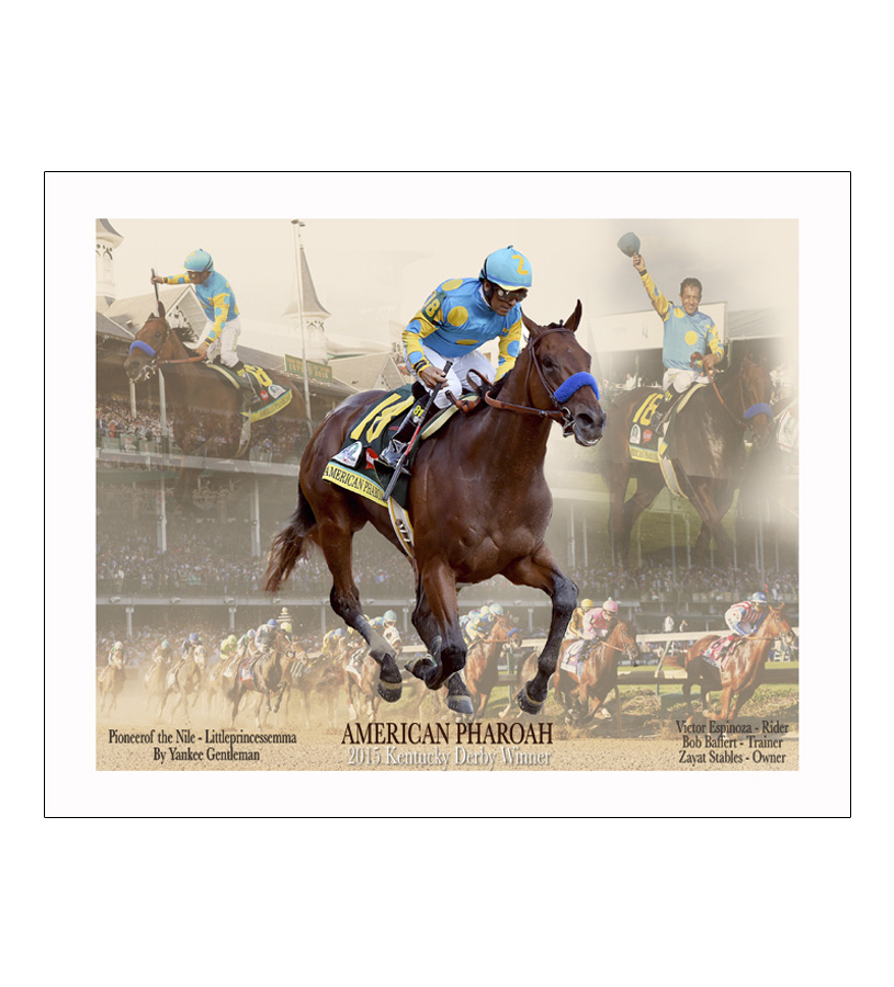 American Pharoah Derby Collage 16x20 Photo