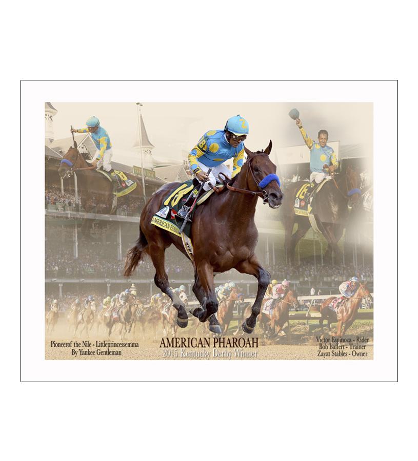 American Pharoah Derby Collage 16x20 Photo
