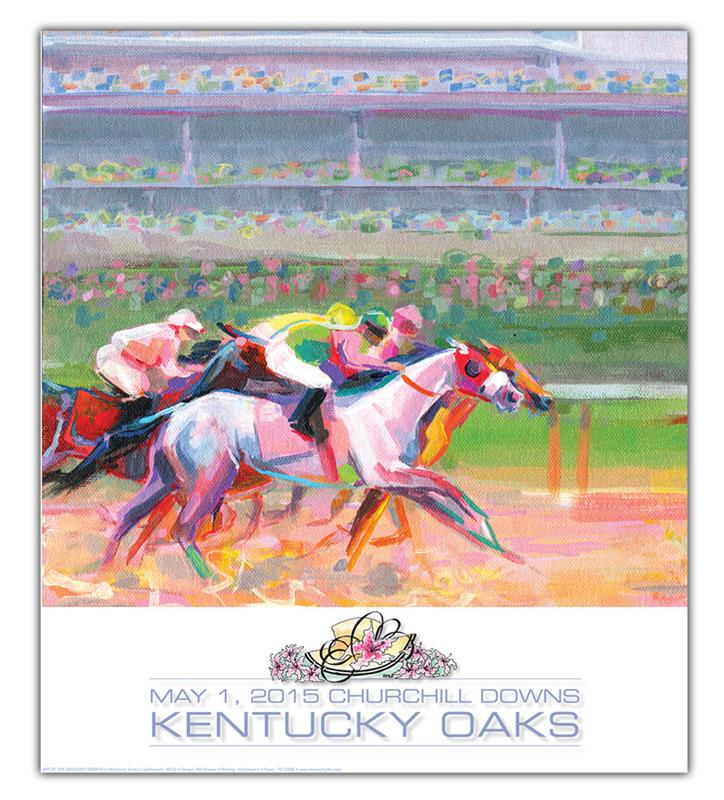 Art of the Oaks 2015 Print,SANTINI 2015 AO