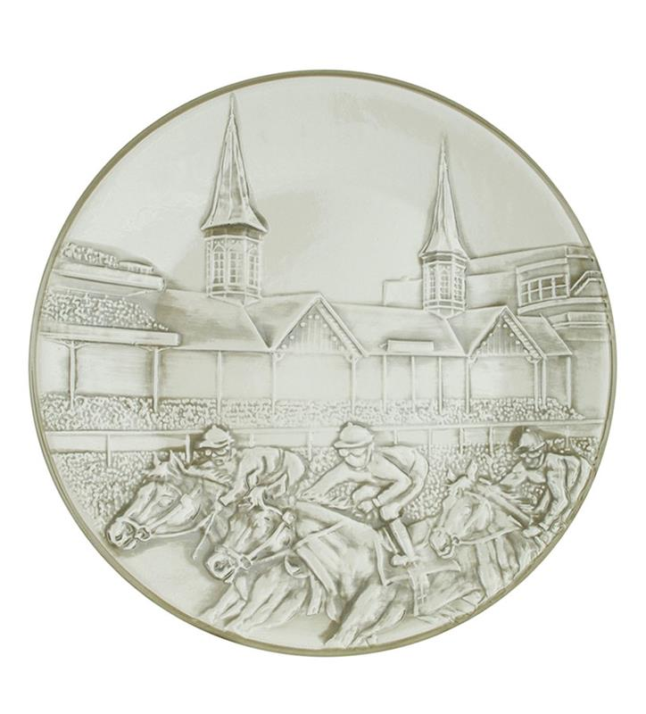 "Churchill Downs Embossed Grandstand Platter,ERHD944 15"" CRE"