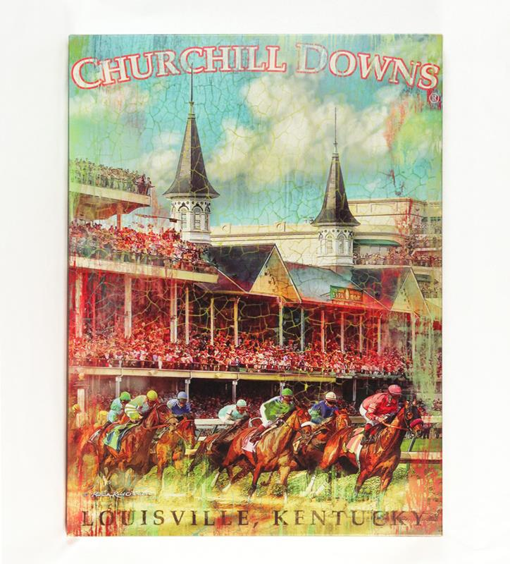 Churchill Downs First Turn Giclee Canvas,4361 GICLEE 16X